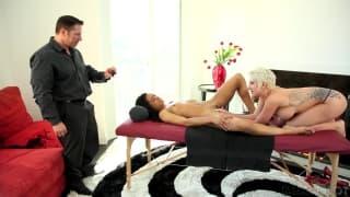 Un vídeo de sexo entre tres amantes